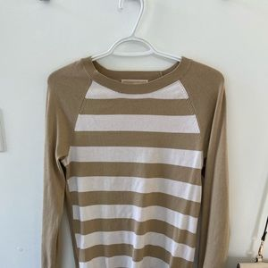 Michael Kors striped crew neck sweater